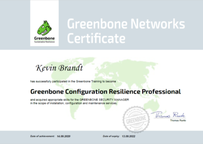 Greenbone Configuration Resilience Professional (GCRP)